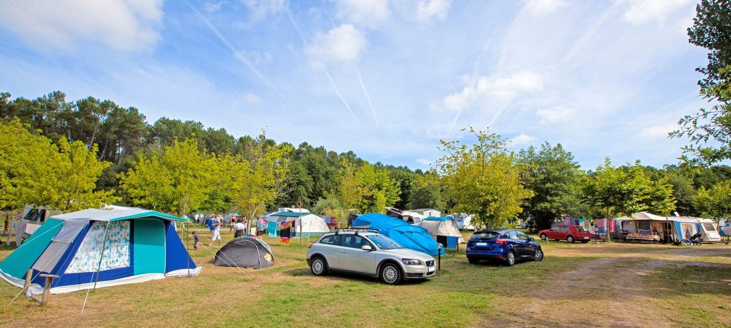 Camping pitches for tents, caravans and camper vans at the campsite