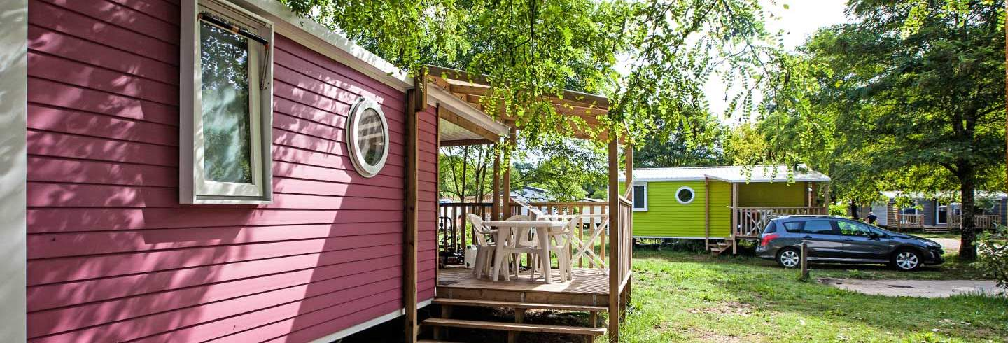 Locations mobil-home Pops au camping