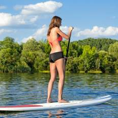 Stand up paddle sur le lac